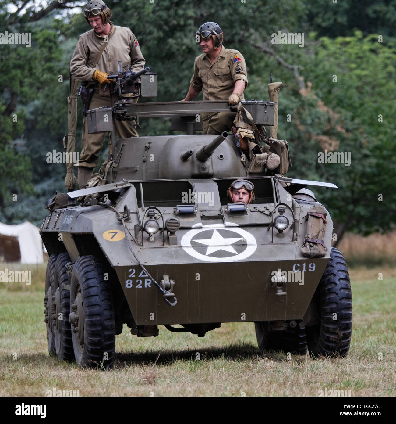 Ford Armored Car M8 Greyhound  Turret mounted 50 caliber