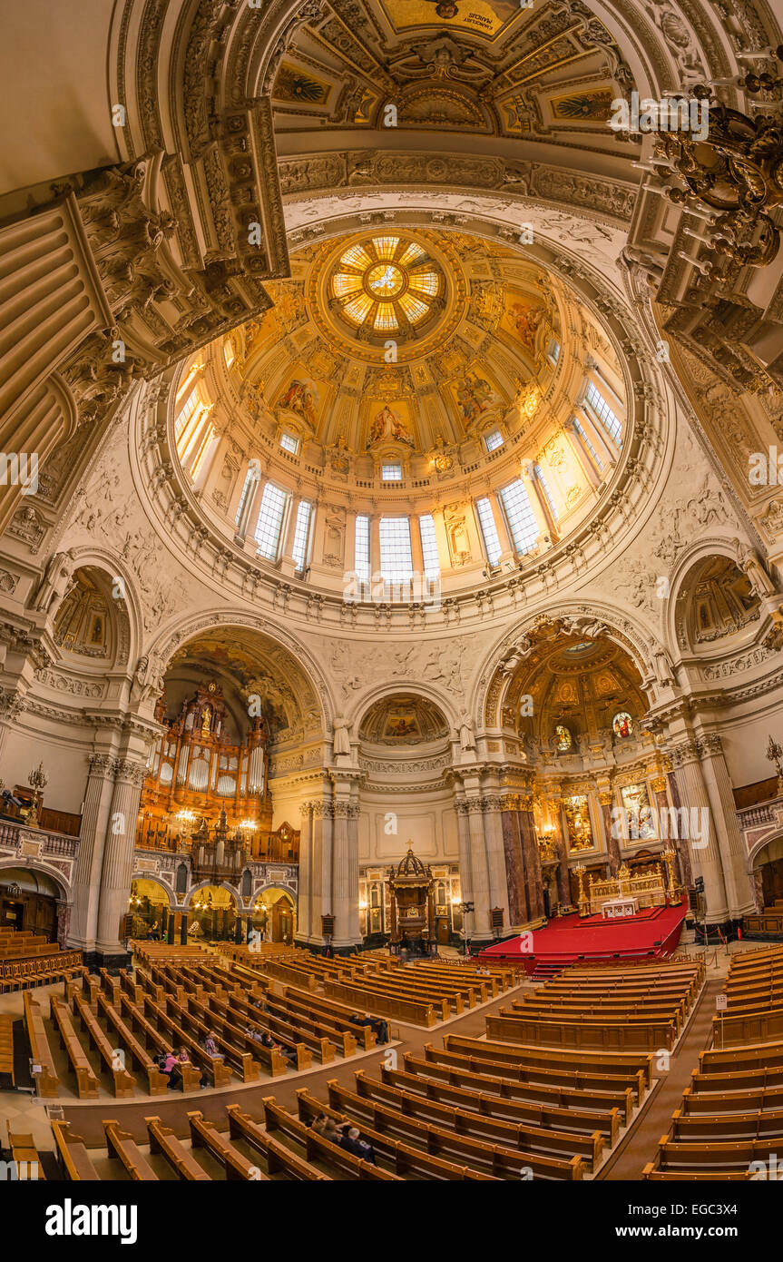 Dome interieur, cupola, Berlin, Germany - Stock Image