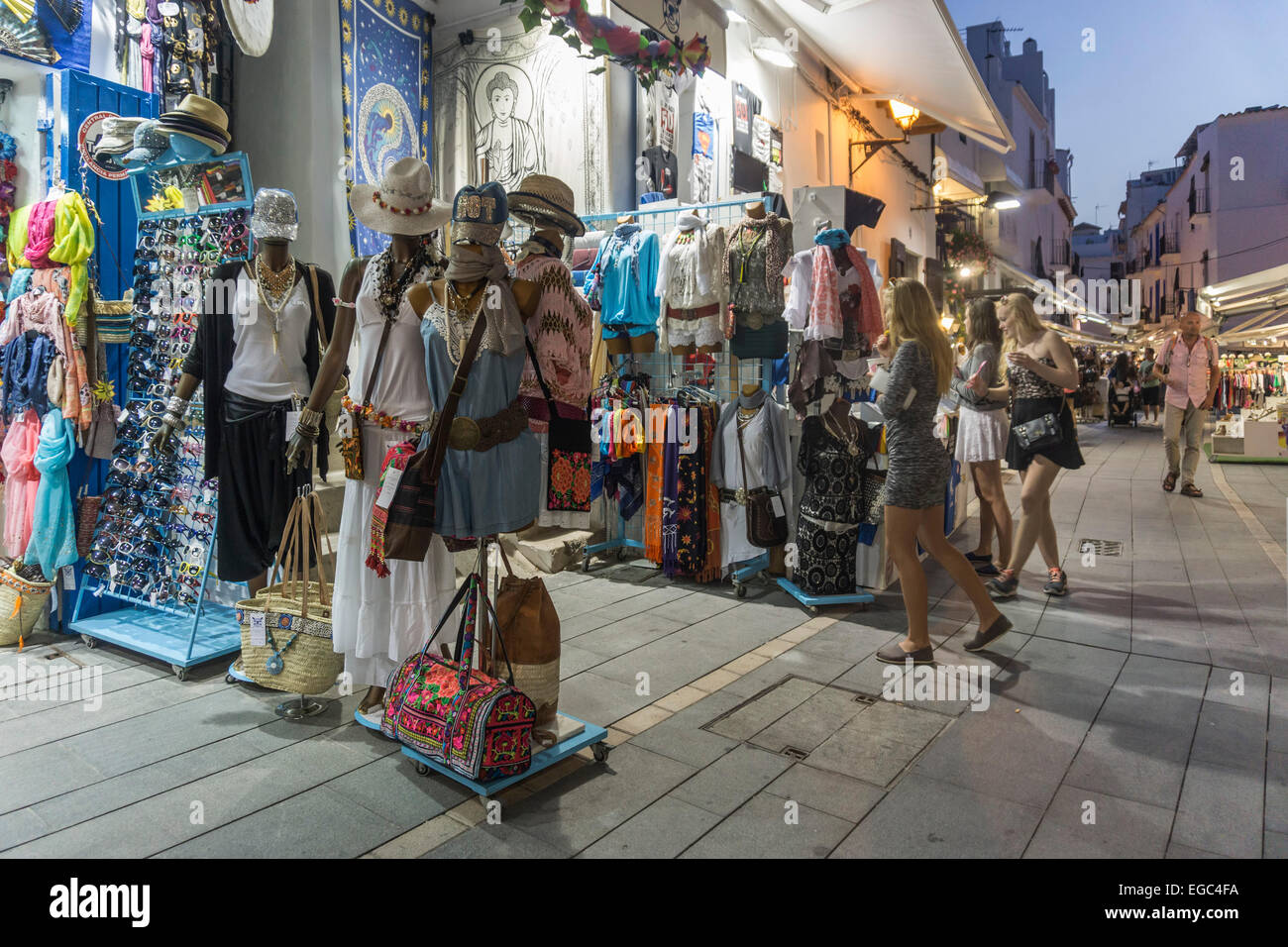 Ibiza town, Boutiques, Shops, Balearic Islands, Spain - Stock Image