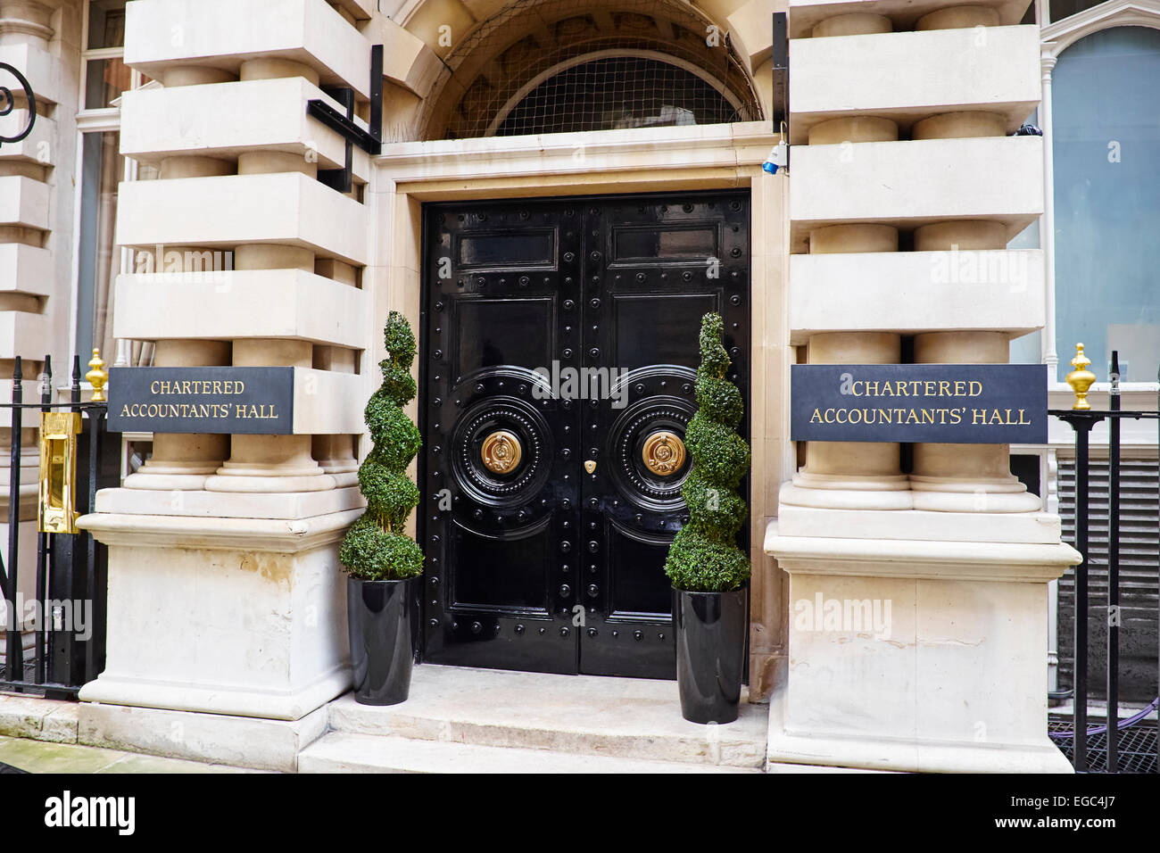 Institute Of Chartered Accountants Hall Moorgate Place City Of London UK - Stock Image