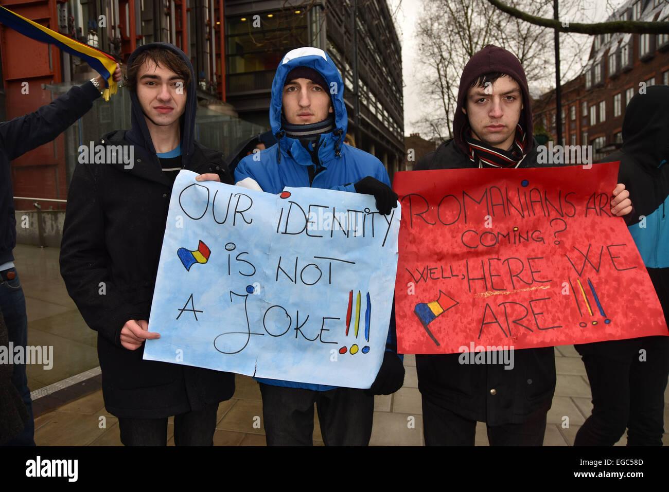 London, UK. 22nd February, 2015. A group of ordinary