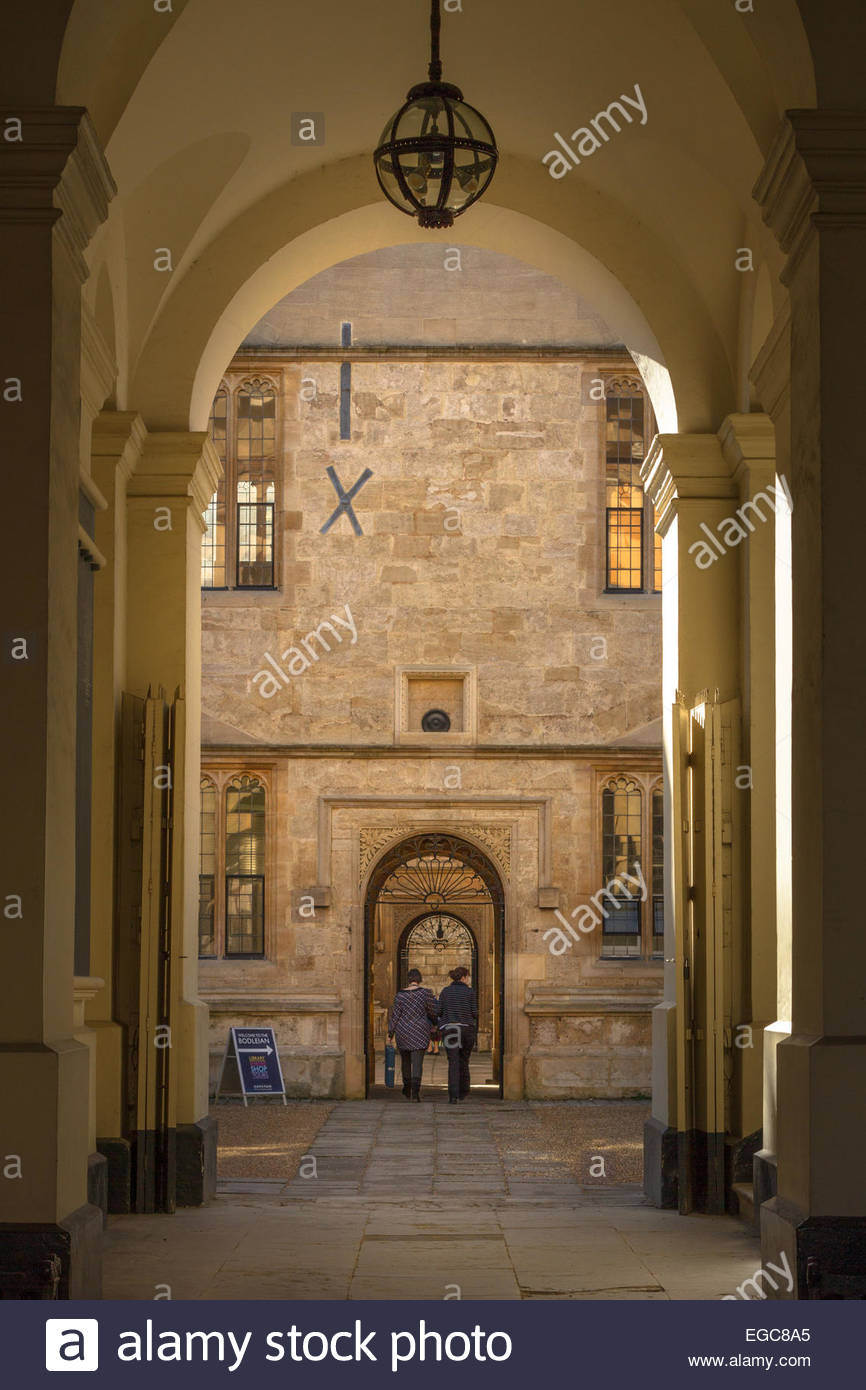 Bodleian Library, Oxford - Stock Image