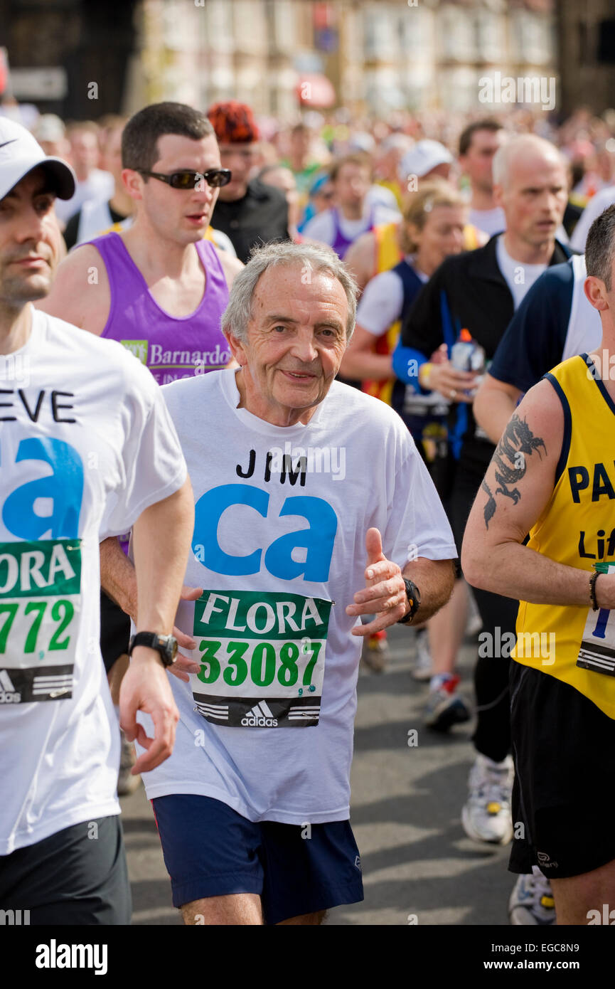 Fun runners and charity runners taking part in the London marathon - Stock Image
