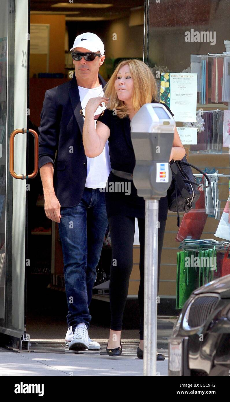 Lloyd Klein and Jocelyn Wildenstein shopping at Super Care Drugs pharmacy in Beverly Hills Featuring: Lloyd Klein,Jocelyn Stock Photo