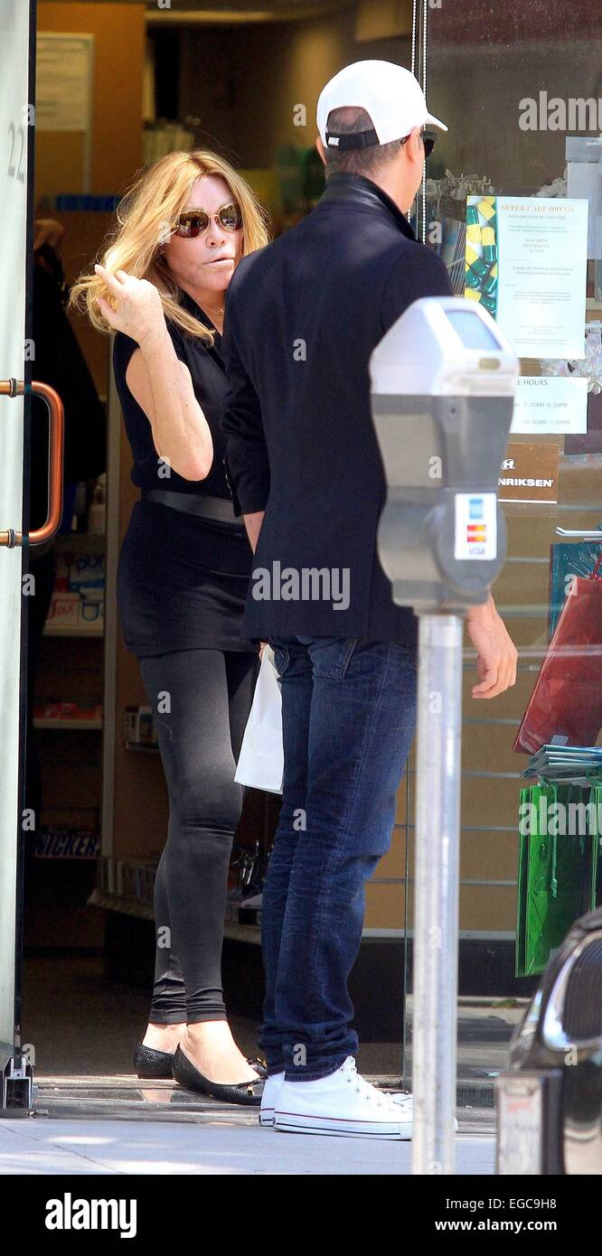 Lloyd Klein and Jocelyn Wildenstein shopping at Super Care Drugs pharmacy in Beverly Hills Featuring: Jocelyn Wildenstein,Lloyd Stock Photo