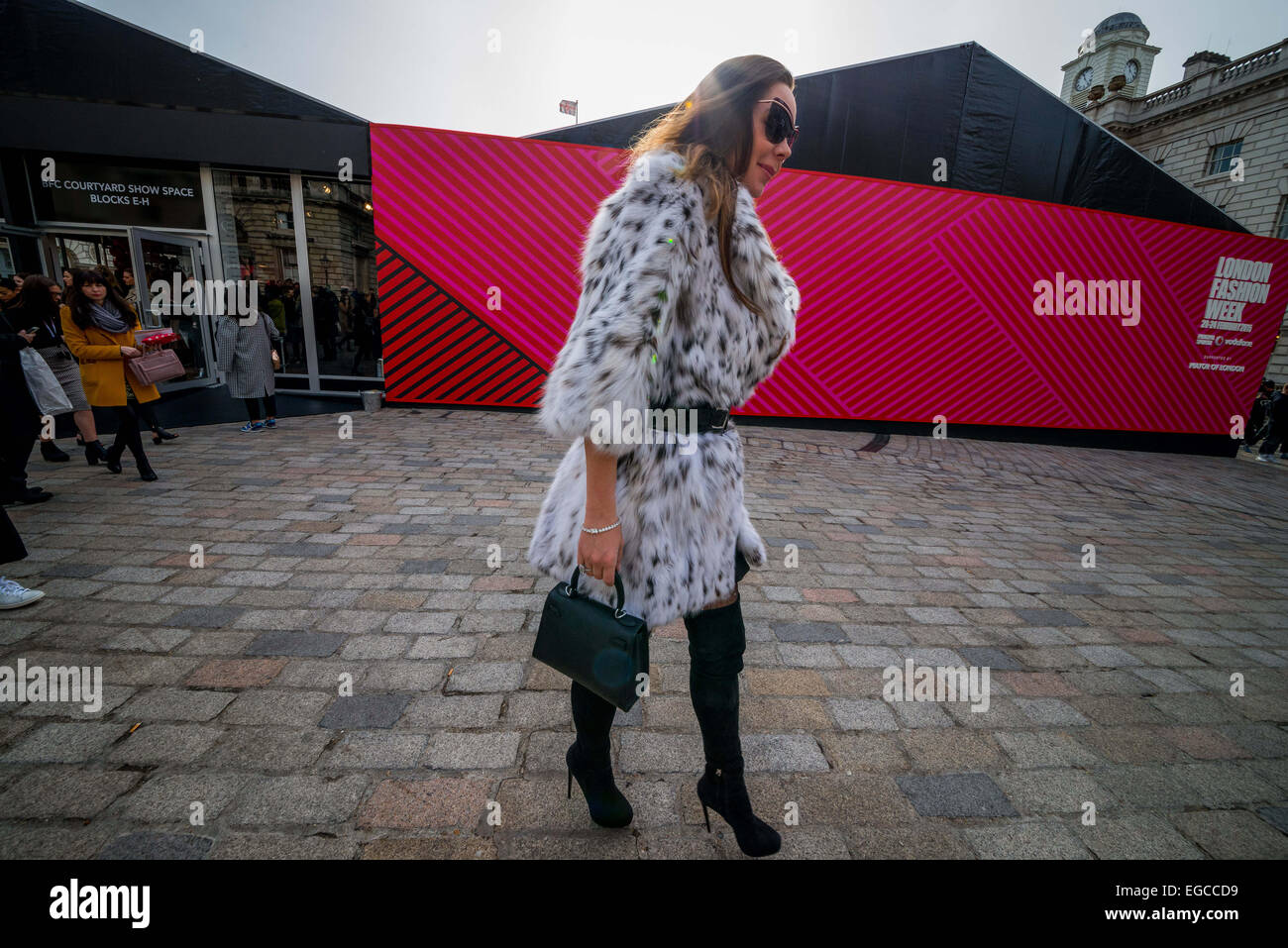 London, UK. 22nd February, 2015. For five days every year the fashion world turns to Britain's capital for London Stock Photo