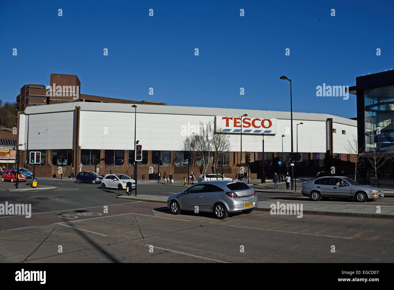 Tesco Chatham Superstore.  One of 43 unprofitable stores which Tesco have marked for closure. - Stock Image