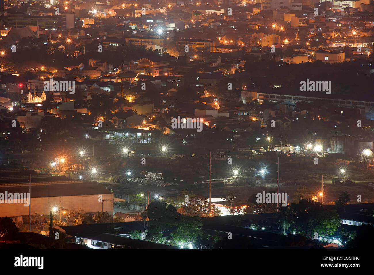 The lights of Pasig City at night,, Metro Manila, Philippine Islands, South East Asia. - Stock Image