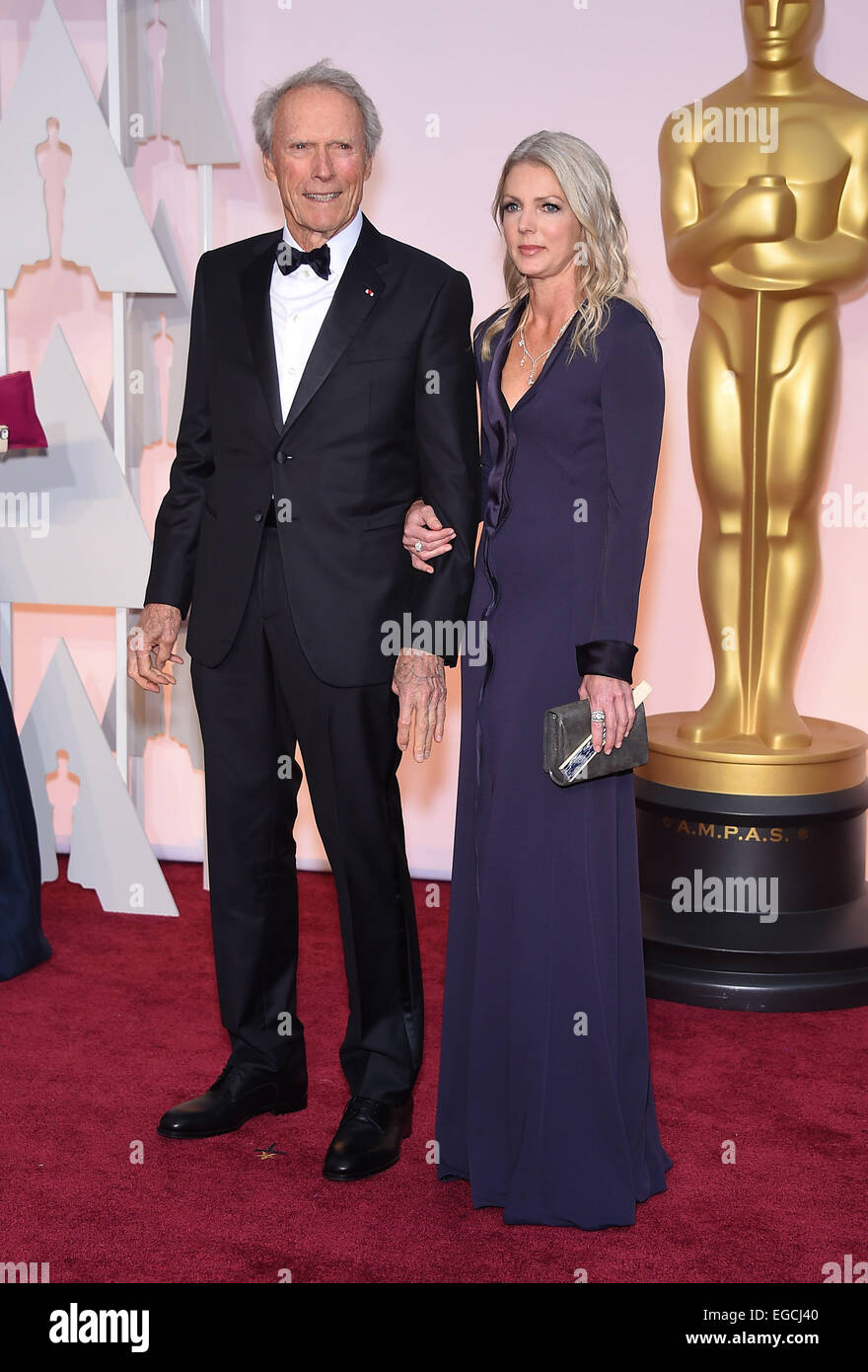 Hollywood, California, USA. 22nd Feb, 2015. CLINT EASTWOOD and CHRISTINE SANDERA on the red carpet during arrivals for the 87th Academy Awards held at the Dolby Theatre. Credit:  Lisa O'Connor/ZUMA Wire/ZUMAPRESS.com/Alamy Live News Stock Photo