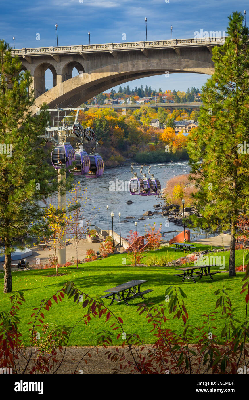 Spokane is a city located in the Northwestern United States in the state of Washington. It is the largest city of - Stock Image