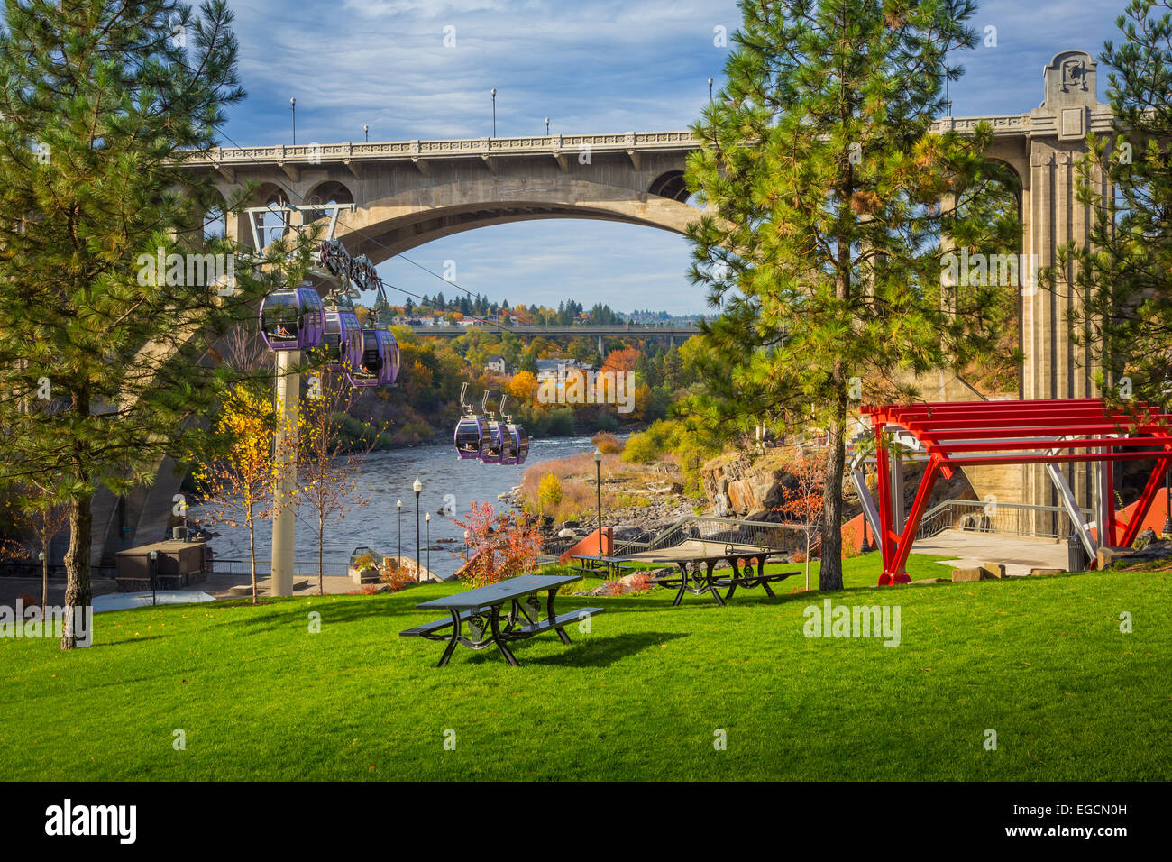 Spokane is a city located in the Northwestern United States in the state of Washington. It is the largest city of Stock Photo