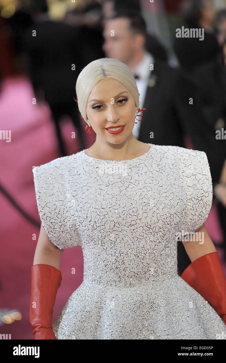 Singer Lady Gaga attends the 87th Academy Awards, Oscars, at Dolby ...
