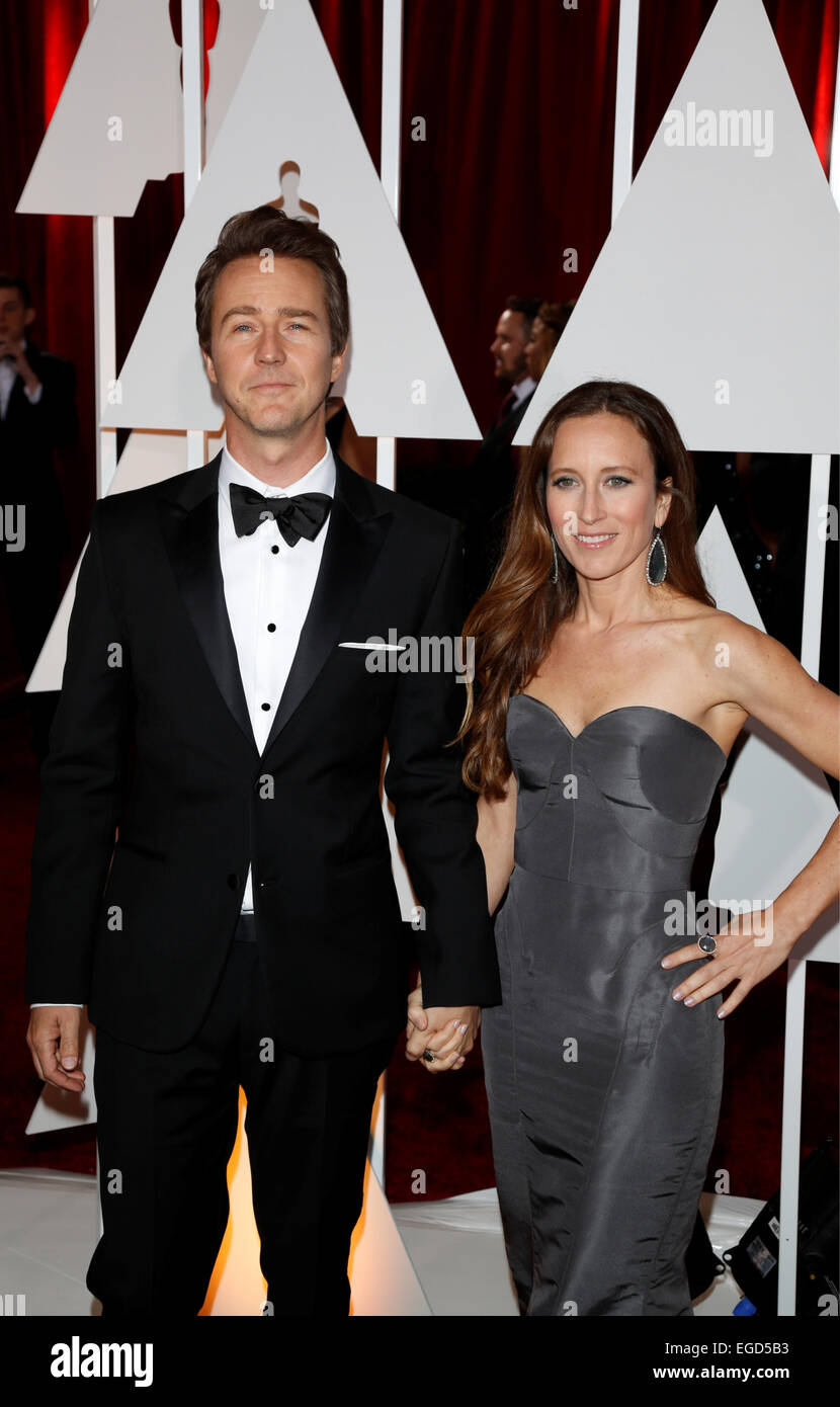 Actor Edward Norton And Wife High ...