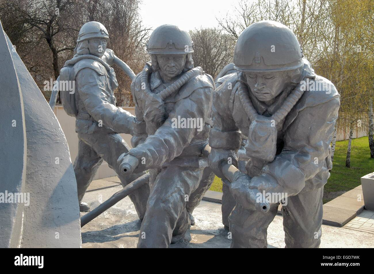 20 years from the nuclear incident of Chernobyl, monument to the 'Liquidators' - Stock Image
