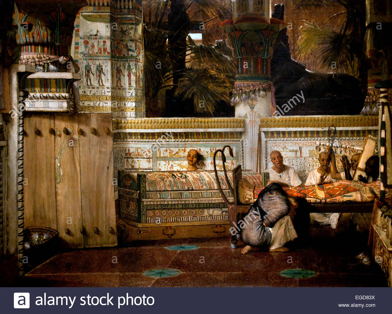 The Egyptian Widow 1872 Lourens Alma Tadema  1836-1912 Dutch Netherlands - Stock Image
