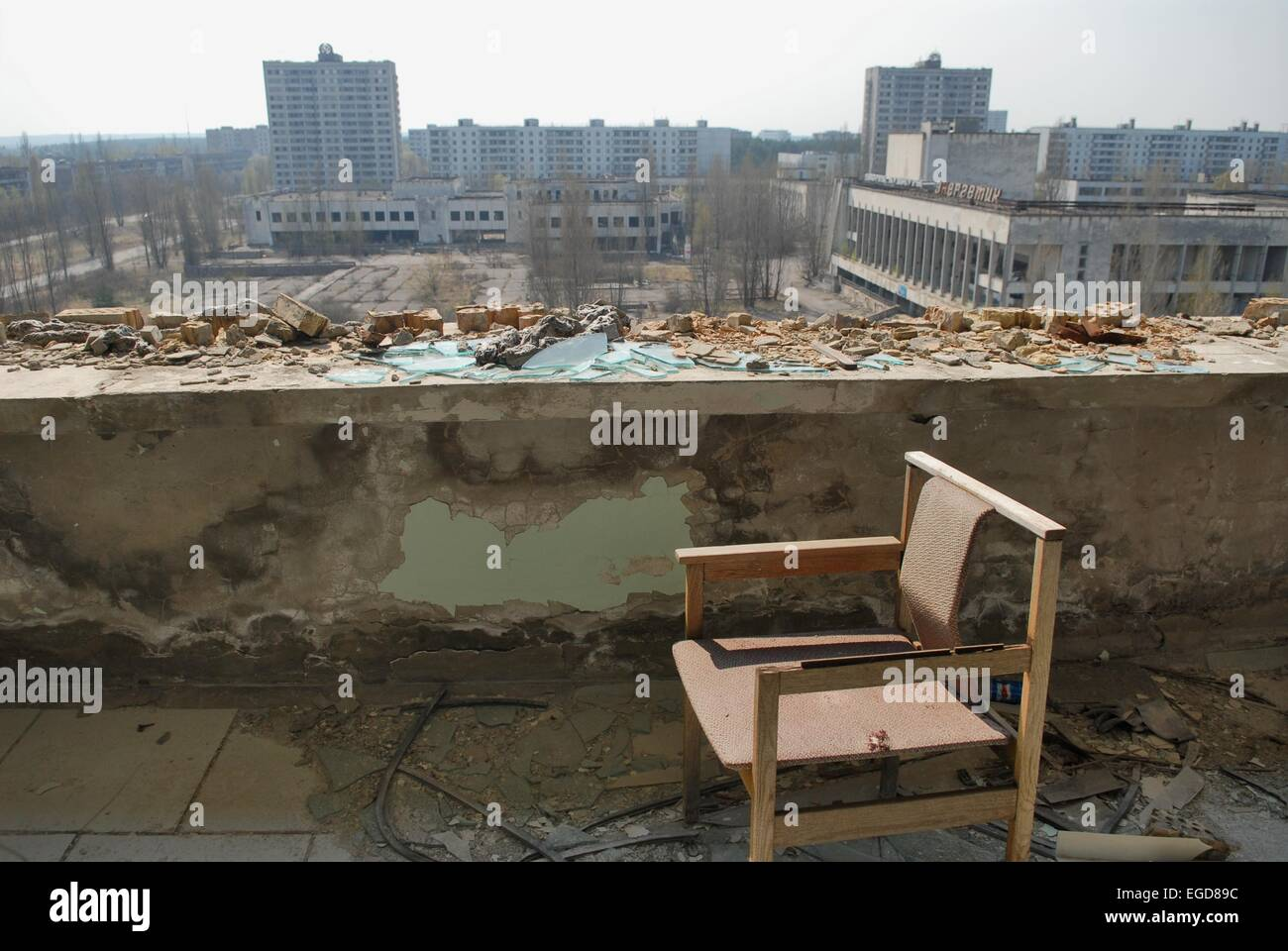 20 years from the nuclear incident of Chernobyl, the Pripyat abandoned town - Stock Image