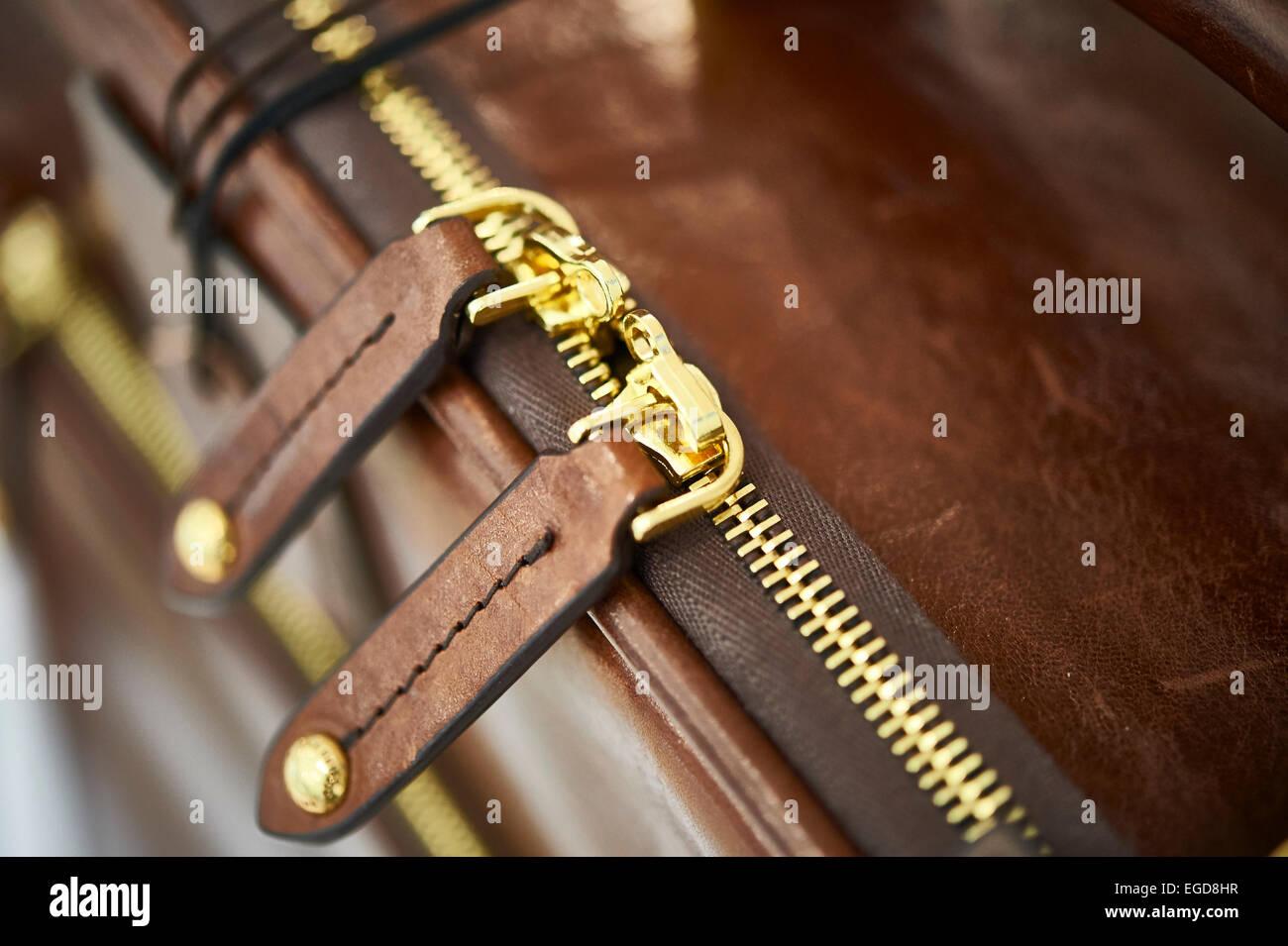 briefcase zip - Stock Image