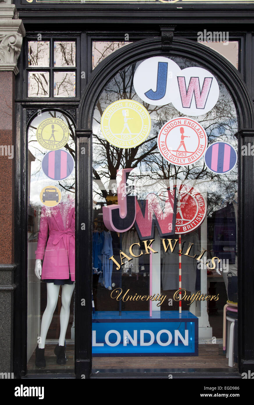 Jack Wills Retail Front on King's Rd - London UK - Stock Image