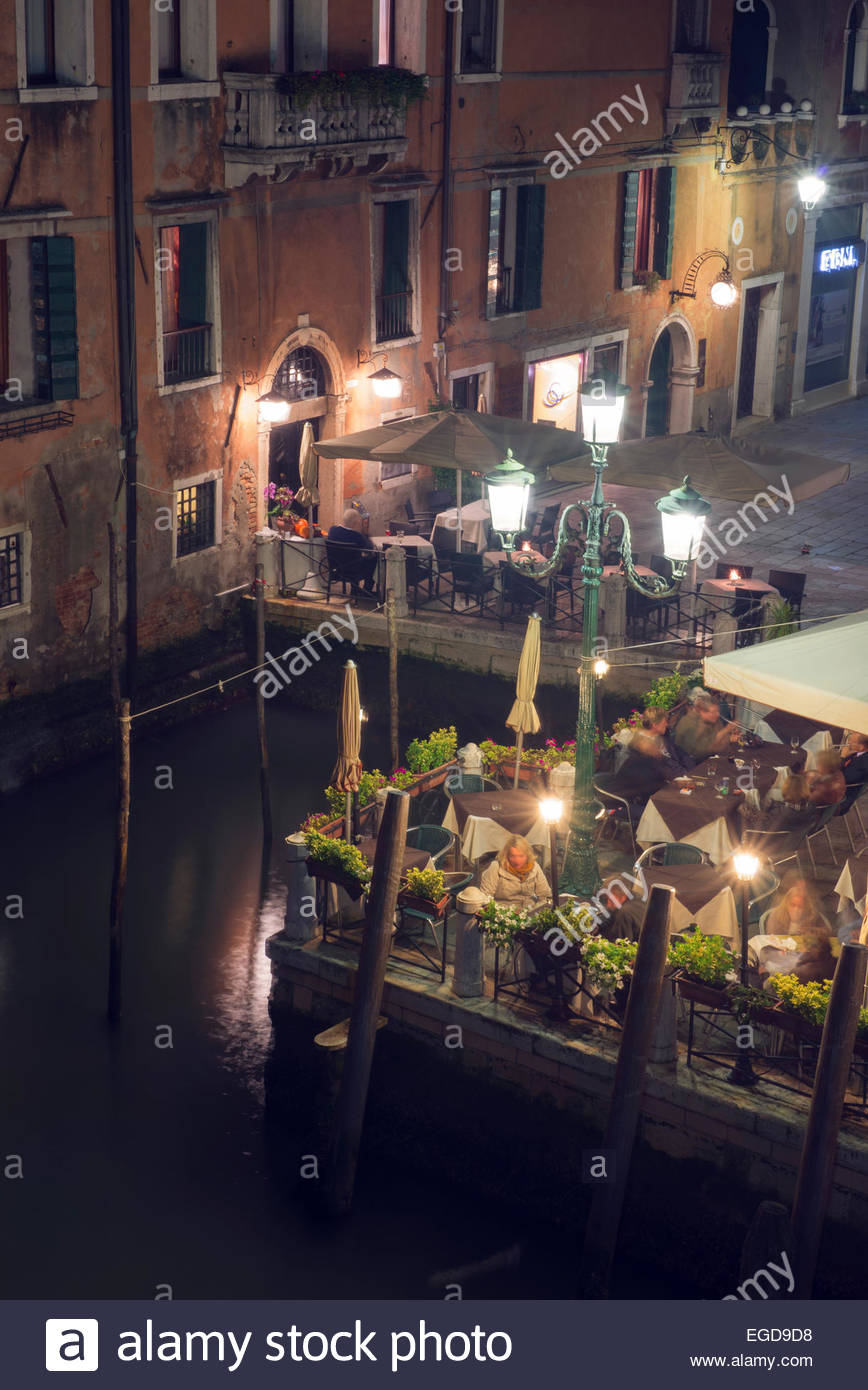 View from the Academia bridge, Grand Canal, Venice, Italy Stock Photo
