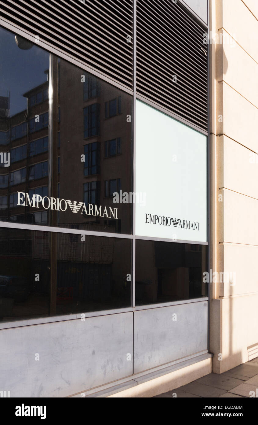 The Emporio Armani store in the Mailbox Birmingham UK - Stock Image