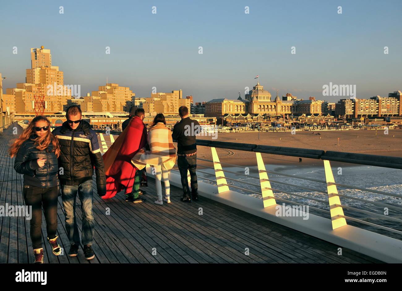 Casino Pier, Scheveningen on the North sea coast, Den Haag, The Netherlands - Stock Image