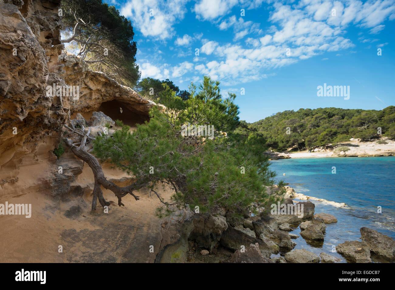 Cala Portals Vells, near Palma de Mallorca, Majorca, Spain - Stock Image