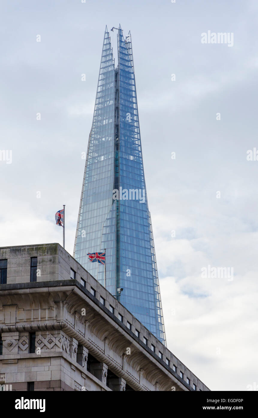 The Shard viewed over Adelaide House, London, UK - Stock Image