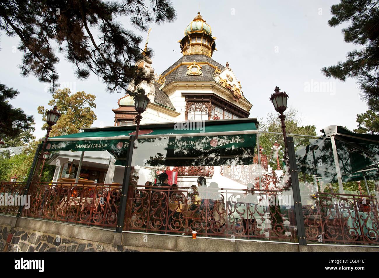 Hanavsky Pavillion in Letna Park, Prague, Czech Republic, Europe Stock Photo