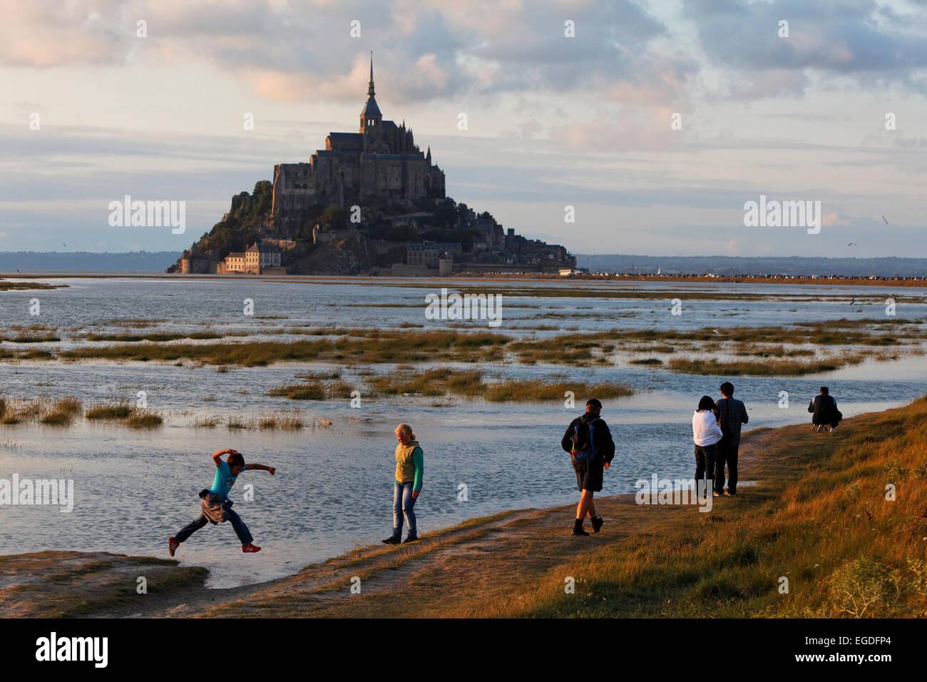Mont Saint Michel, Lower Normandy, Normandy, France - Stock Image