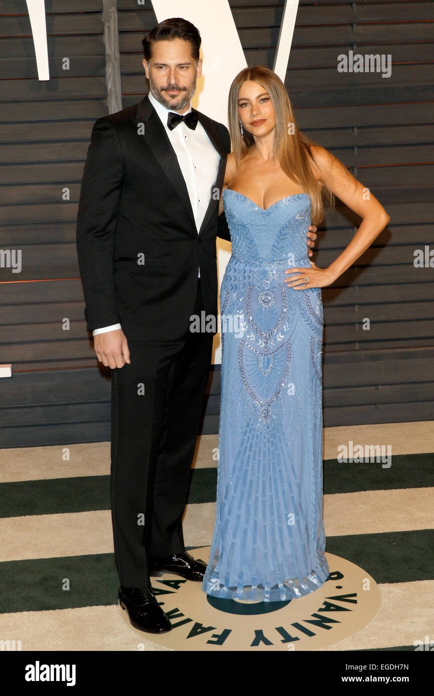 Actors Sofia Vergara and Joe Manganiello attend the Vanity Fair ...