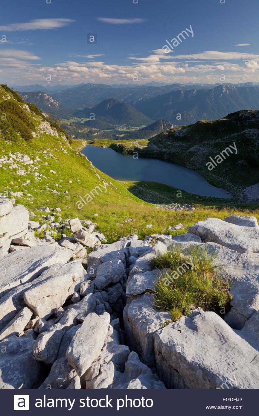 Lake Augstsee, Loser Massiv, Ausseerland, Salzkammergut, Styria, Austria - Stock Image