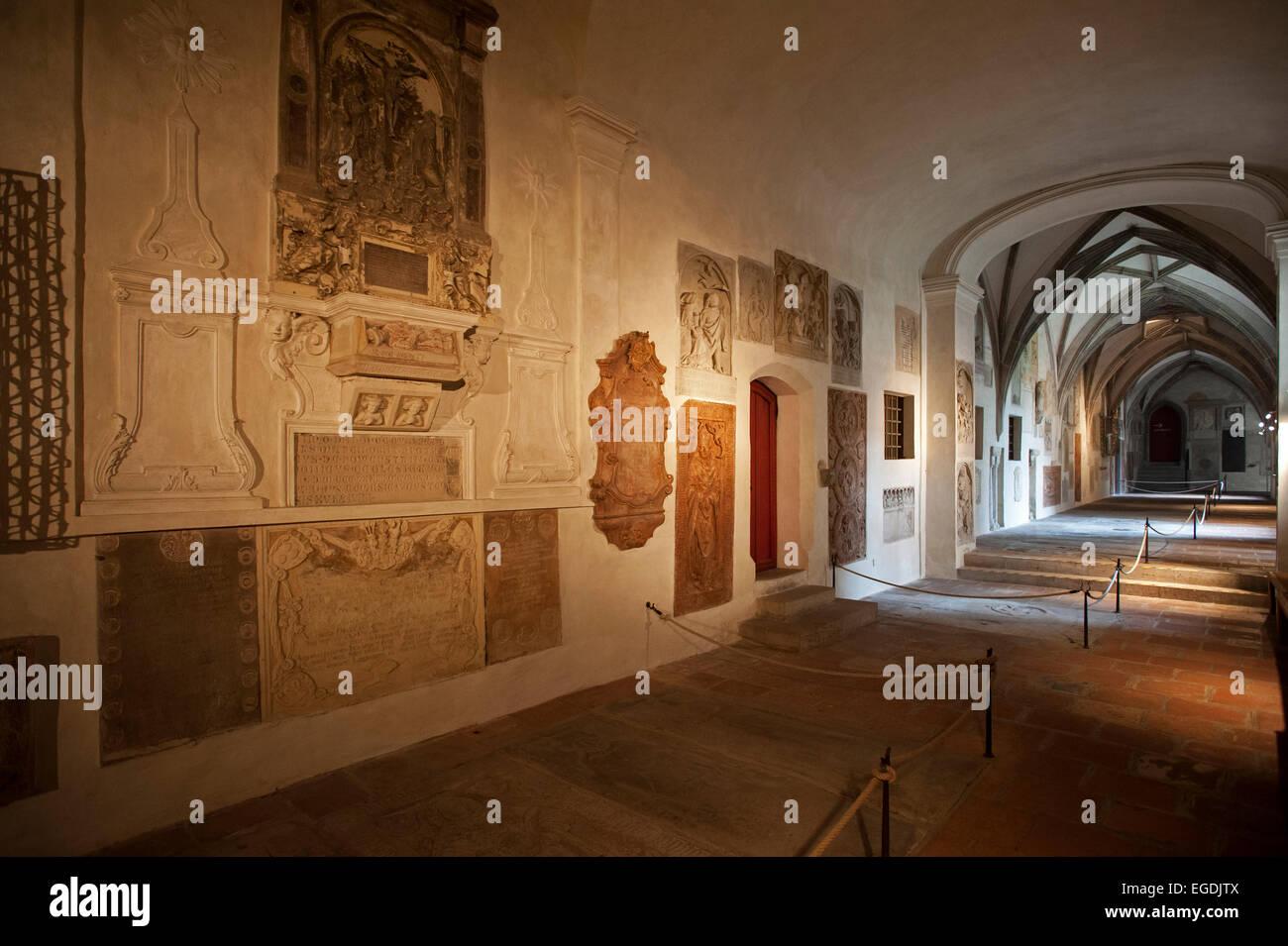 Interior of Augsburg cathedral, Augsburg, Swabia, Bavaria, Germany - Stock Image