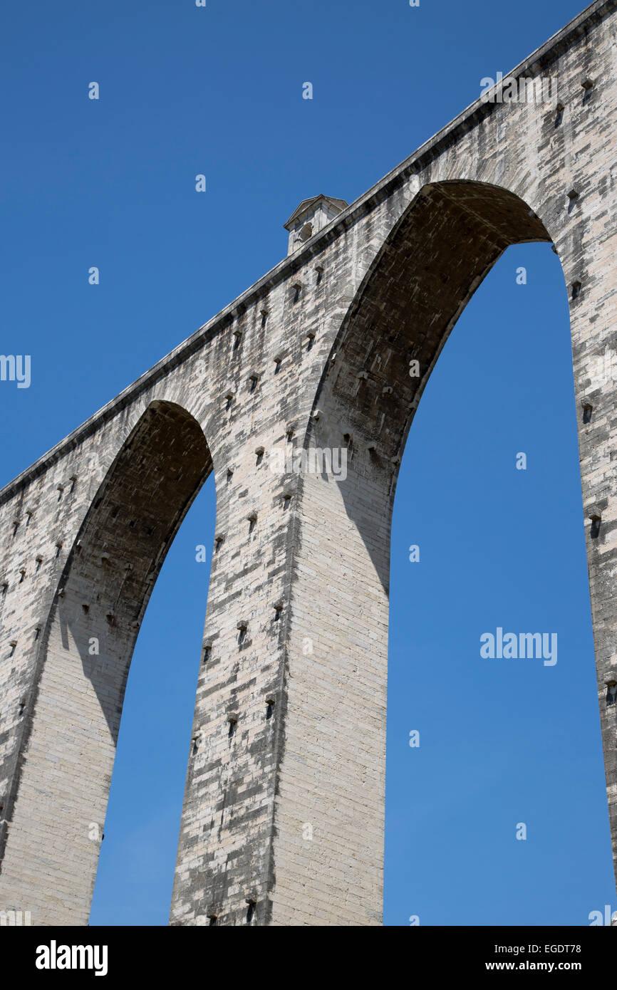 Historic Aqueduto das Aguas Livras aqueduct, Lisbon, Lisboa, Portugal Stock Photo