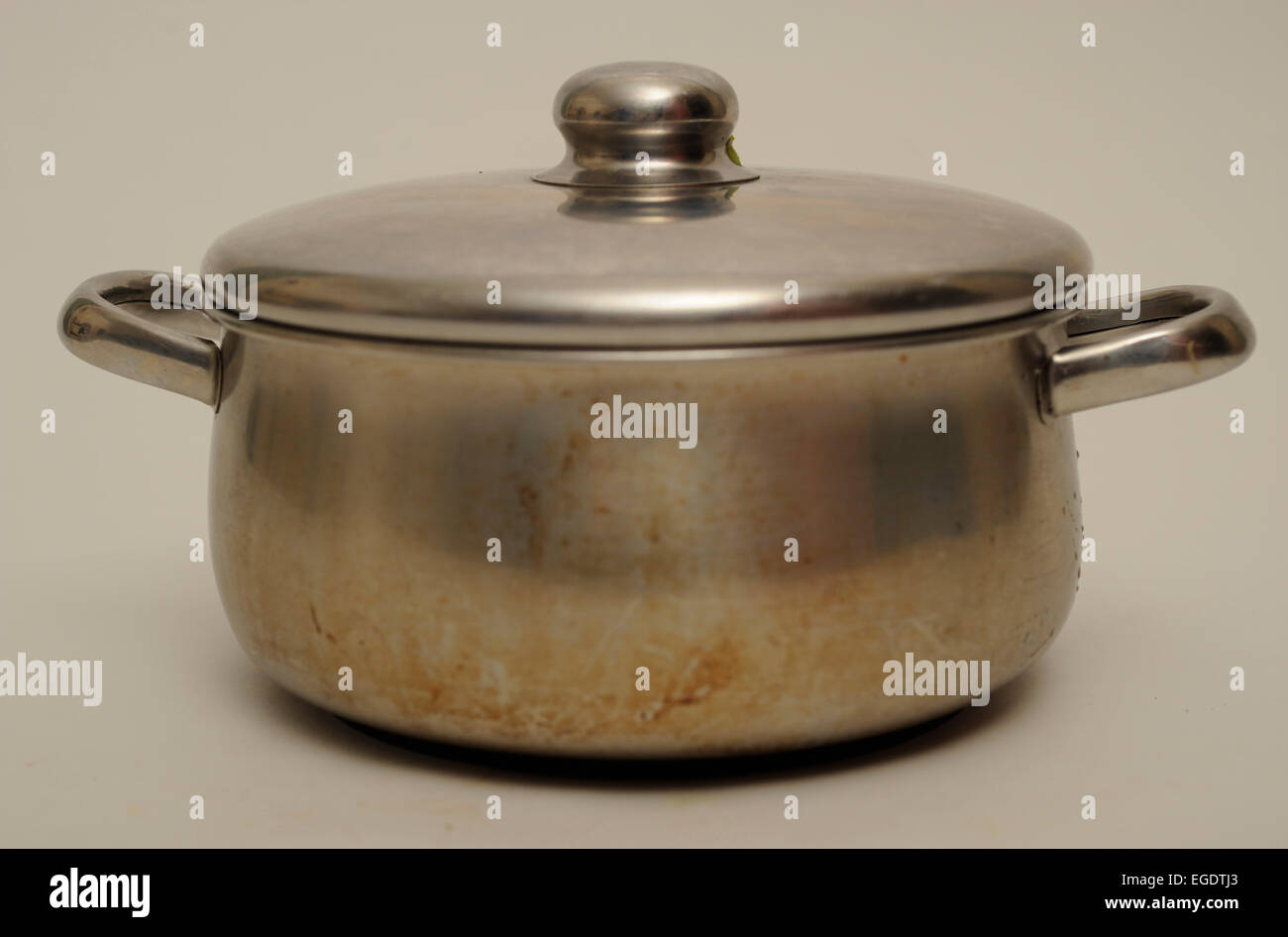 Stainless Steel Cooking Pot - Stock Image