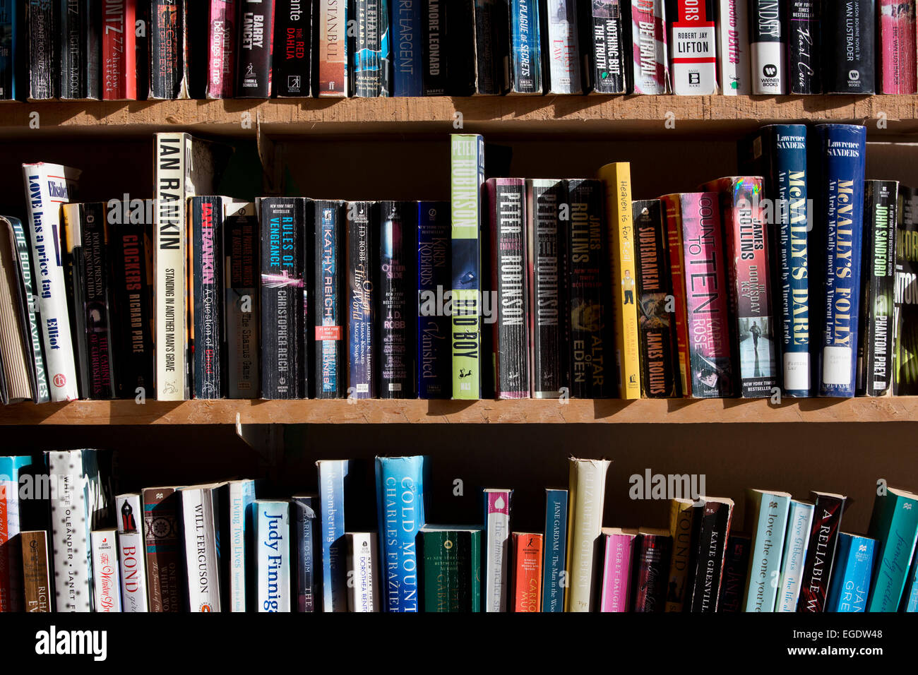 Outstanding Used Paperback Books Shelves Stock Photo 78981064 Alamy Download Free Architecture Designs Embacsunscenecom