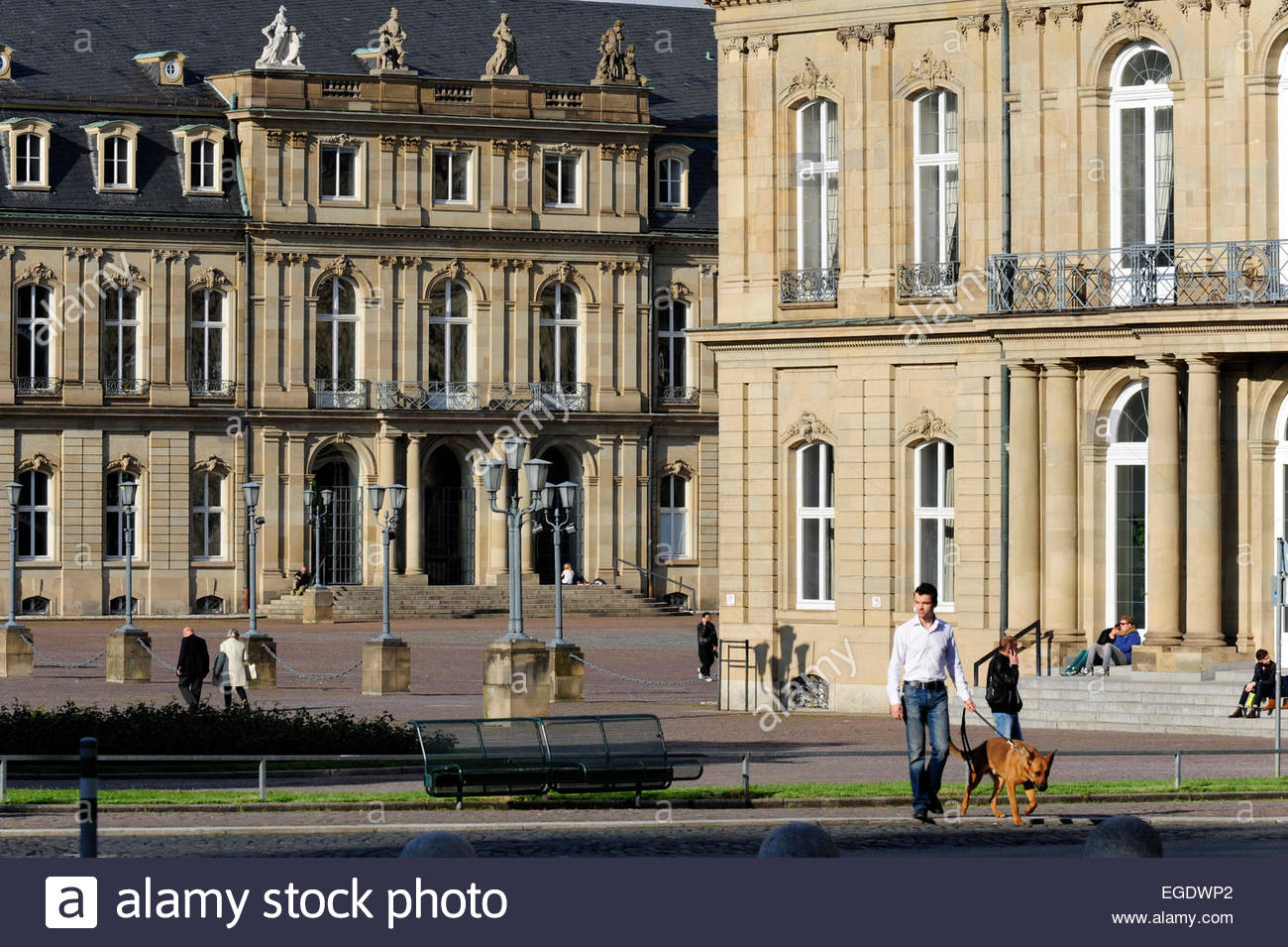 stuttgart palace square stock photos stuttgart palace square stock images alamy. Black Bedroom Furniture Sets. Home Design Ideas