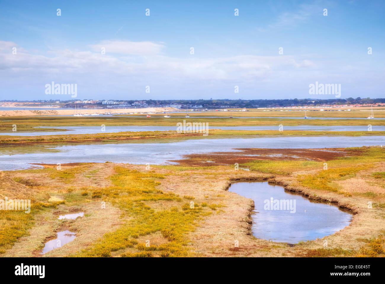 Hurst salt marsh, Hamsphire, England, United Kingdom - Stock Image
