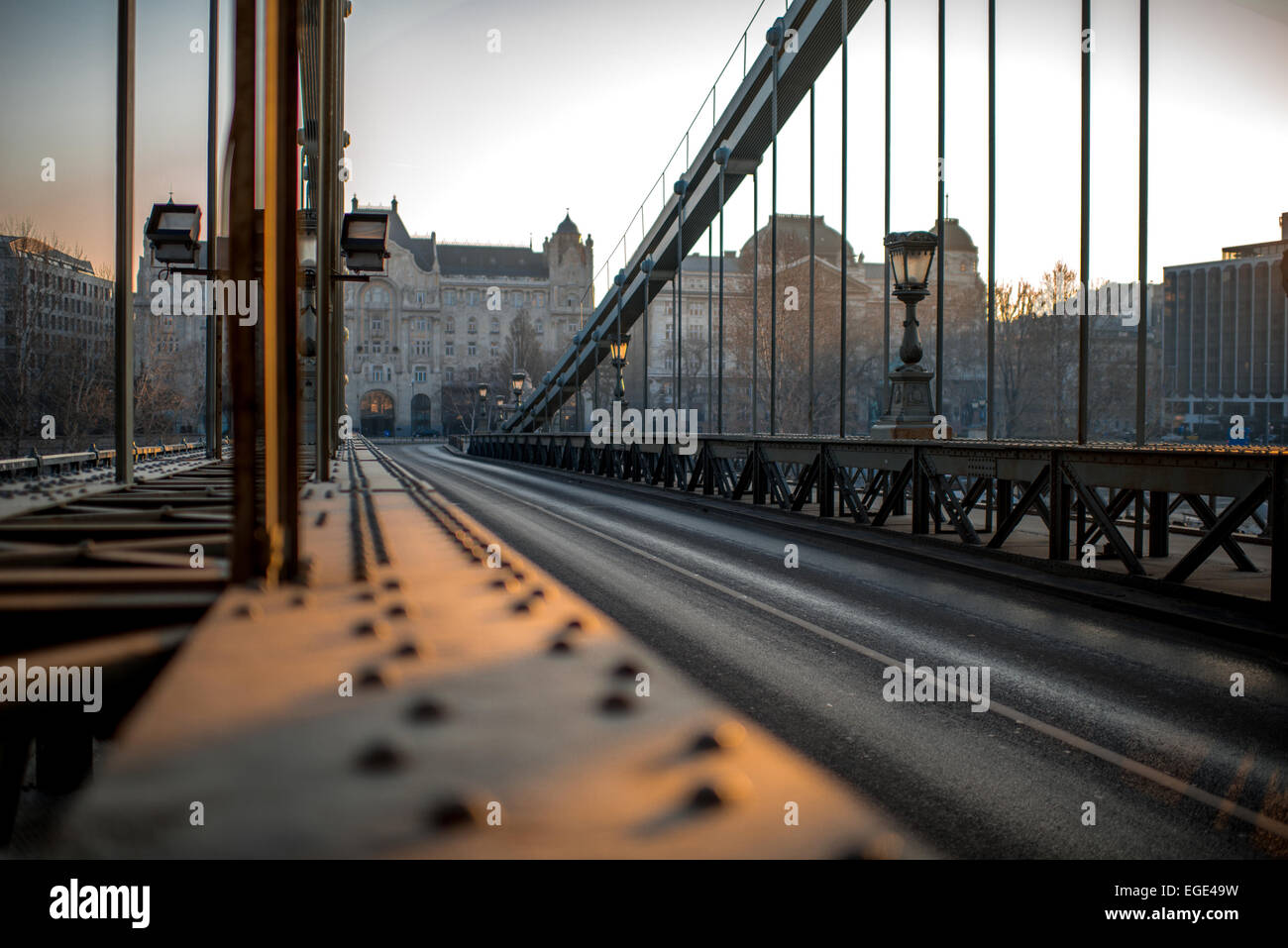 Szechenyi Chain Bridge - Stock Image