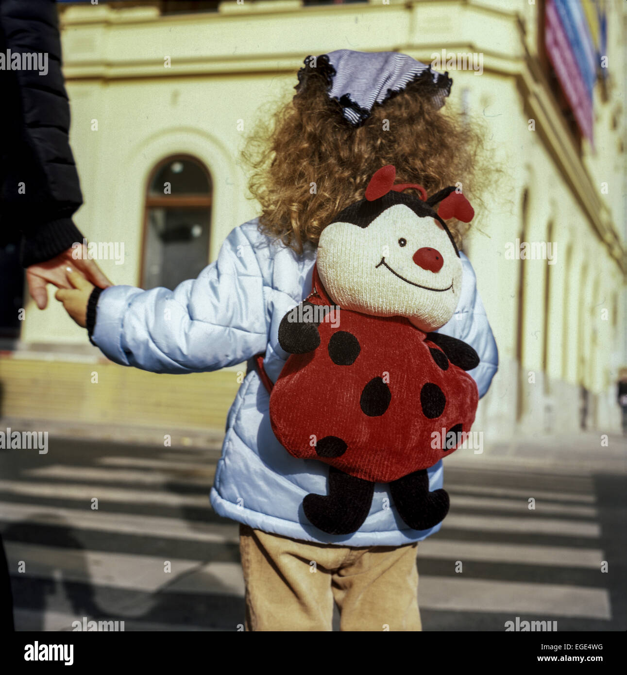 child on crosswalk - Stock Image
