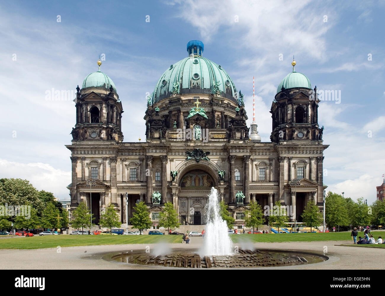 Berlin cathedral minster dom germany europe - Stock Image