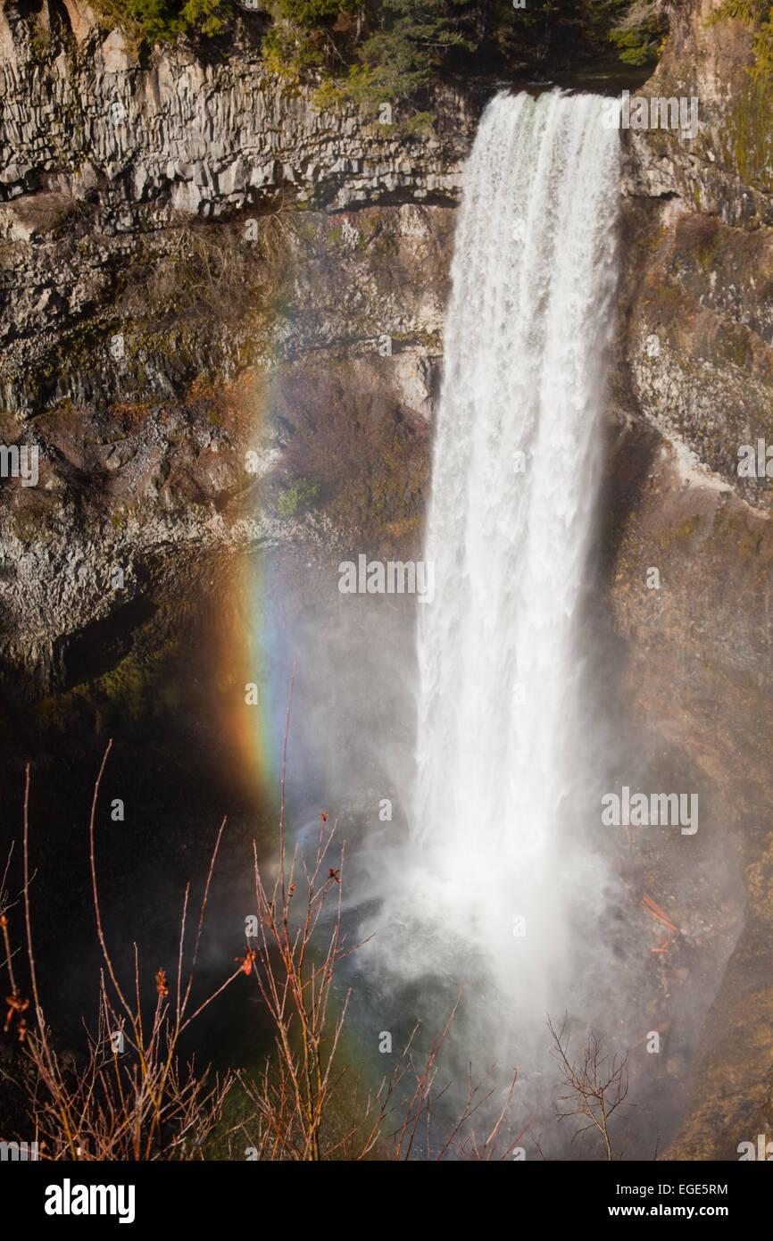 70 meter water fall at Brandywine Falls Provincial Park, British Columbia, Canada - Stock Image