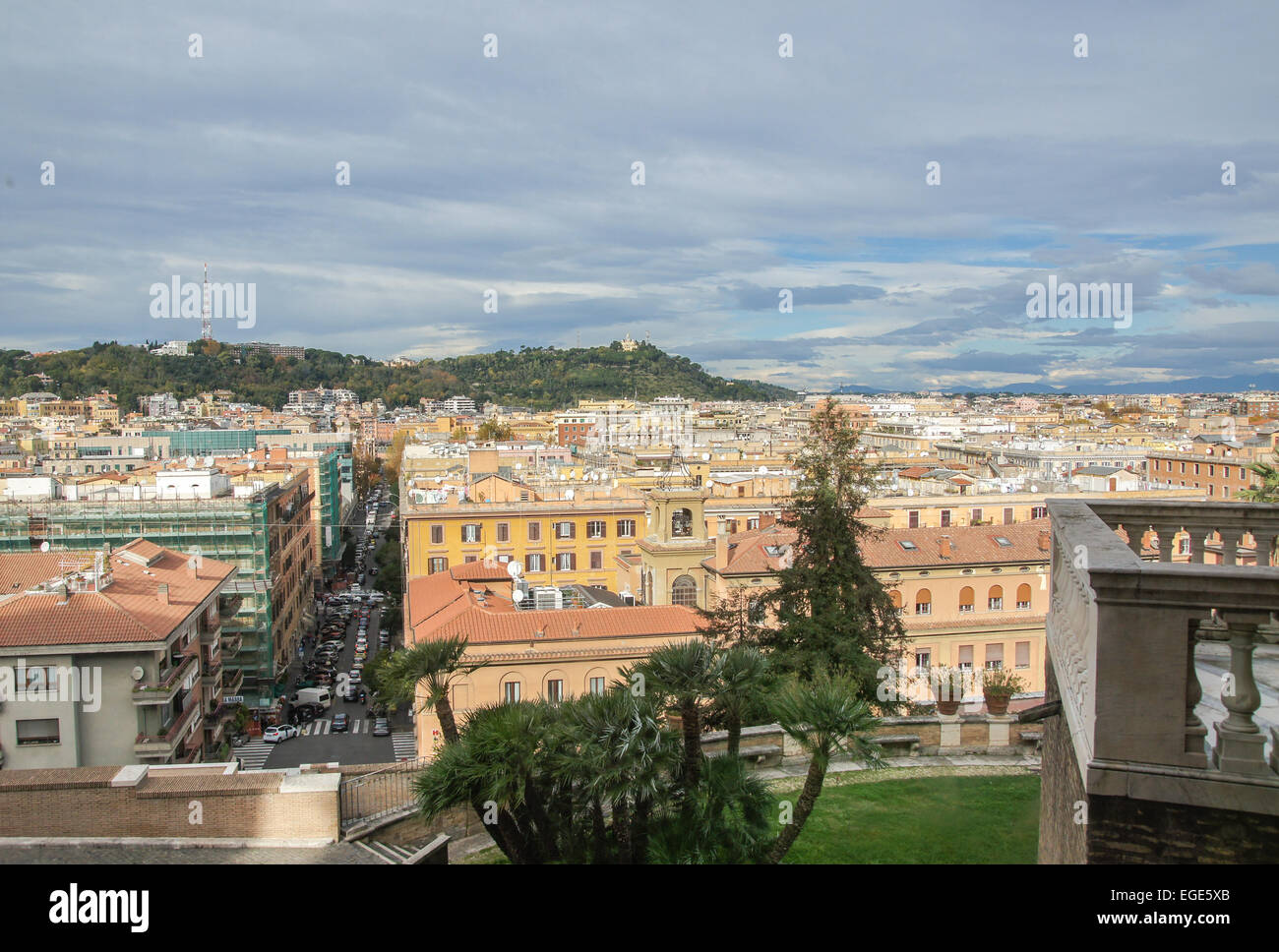aerial view, Rome City Centre, Italy - Stock Image