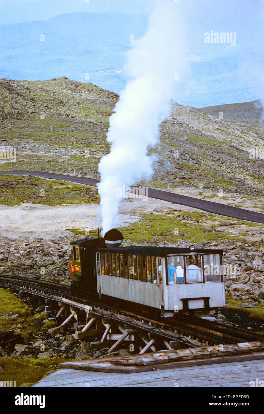 Mount Washington cog train, New Hampshire, USA. - Stock Image