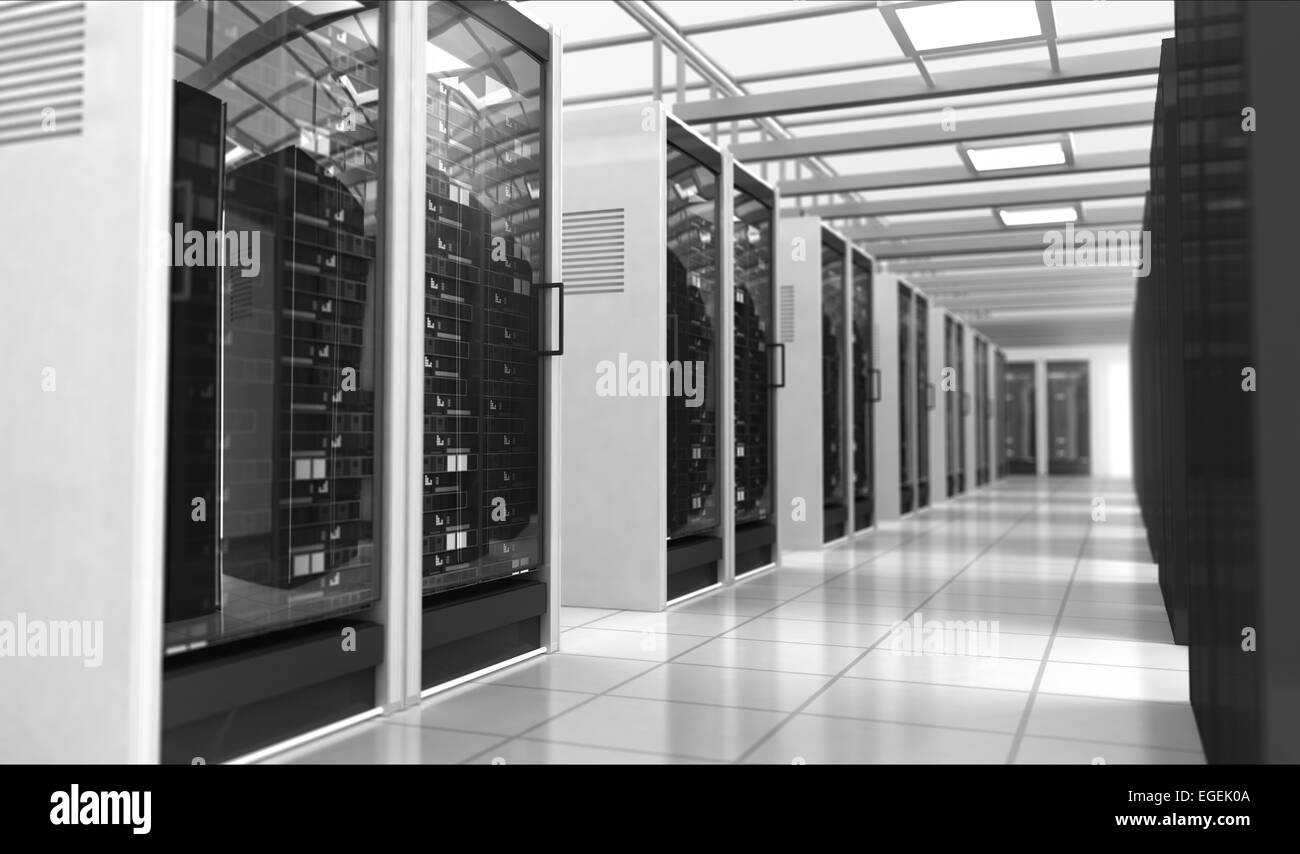 Hardware in the server room. - Stock Image