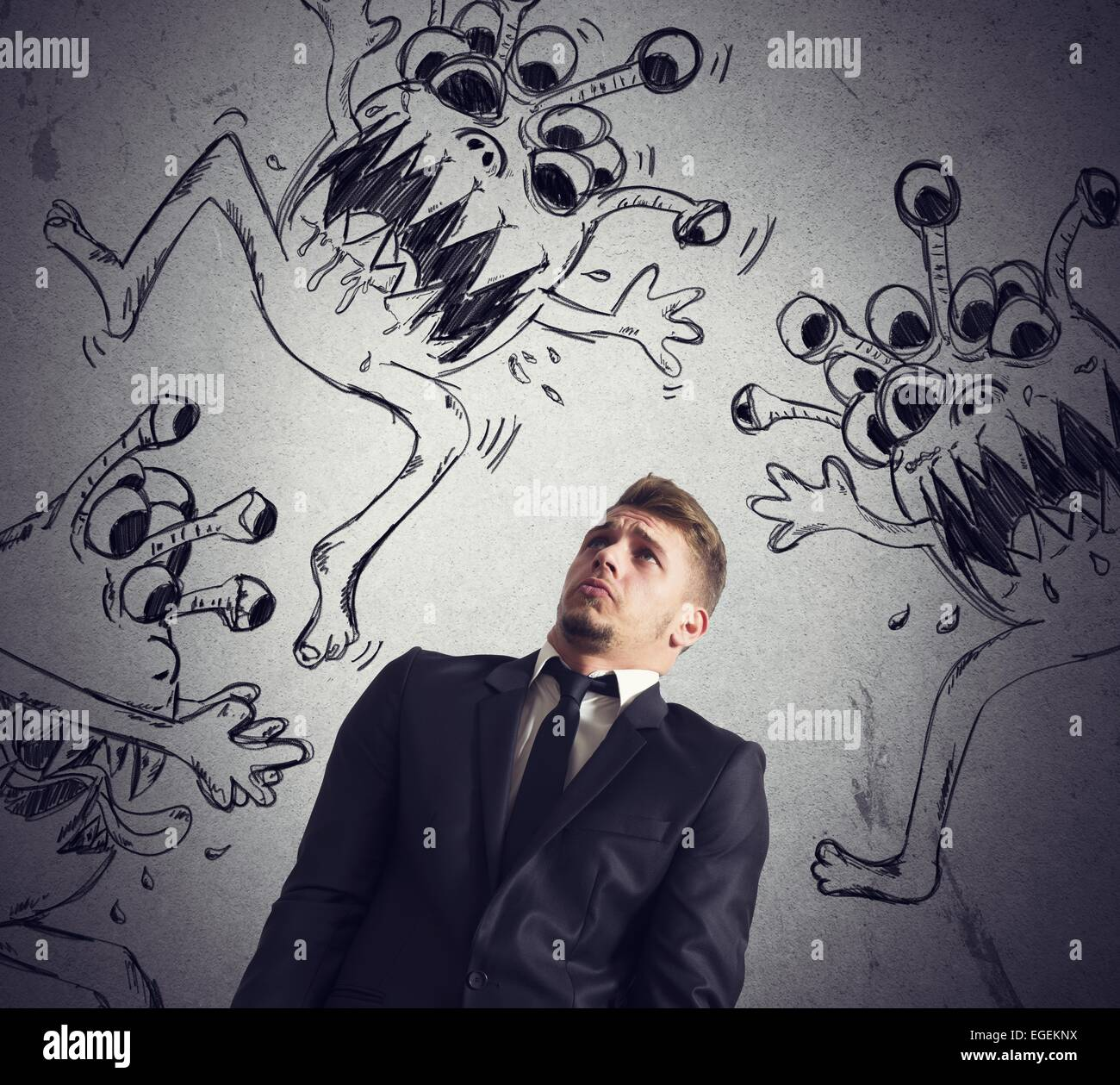 Contagion of virus - Stock Image