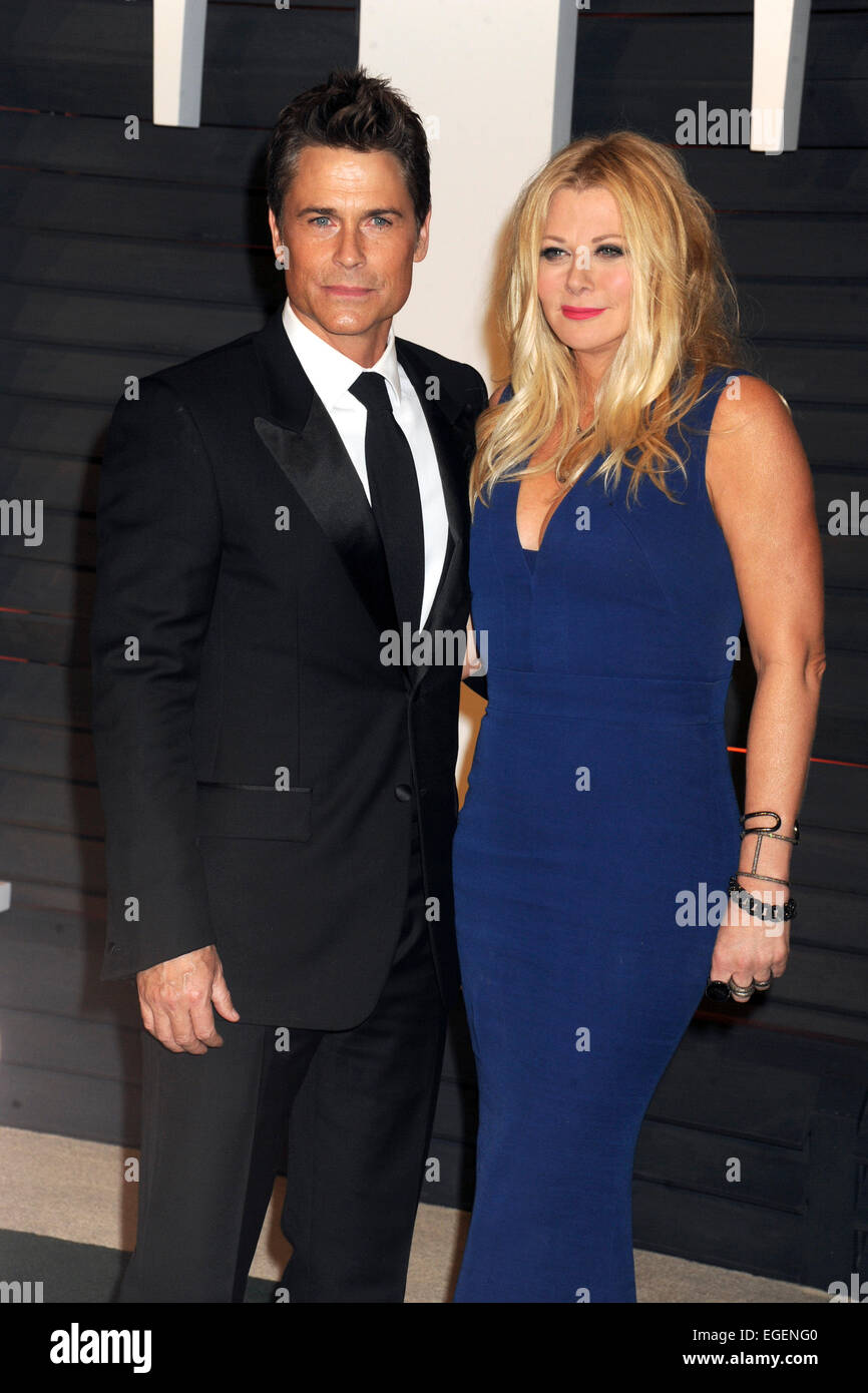 Rob Lowe And His Wife Sheryl Berkoff Attending The Vanity -3958