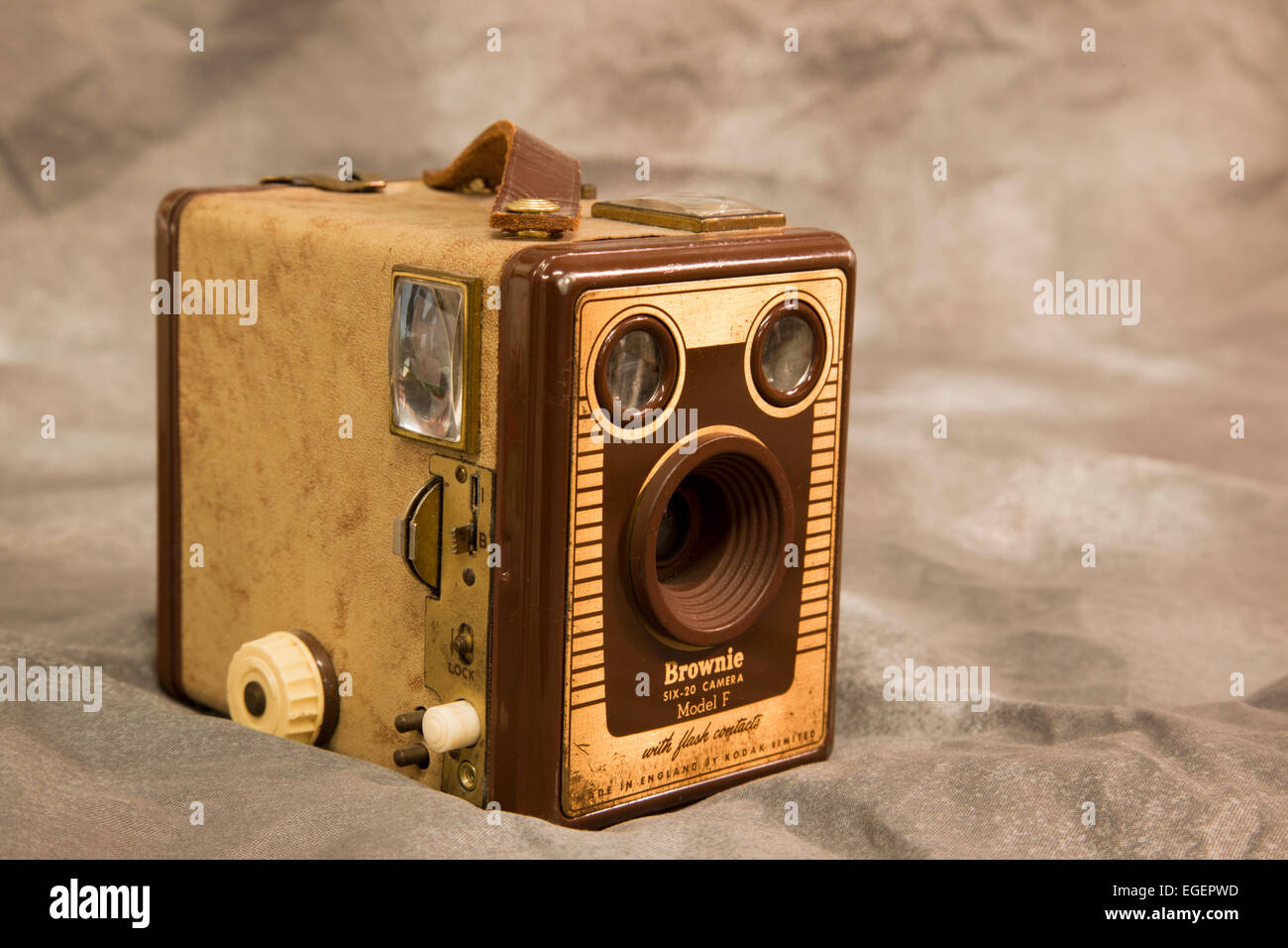 Brownie Six-20 Camera - Model F - Stock Image