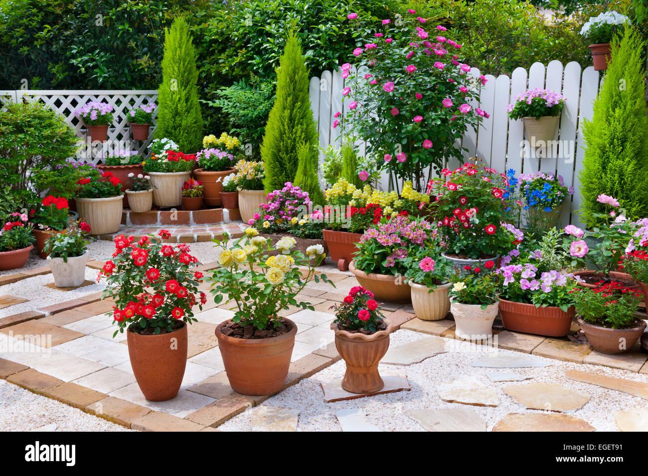 House Garden - Stock Image