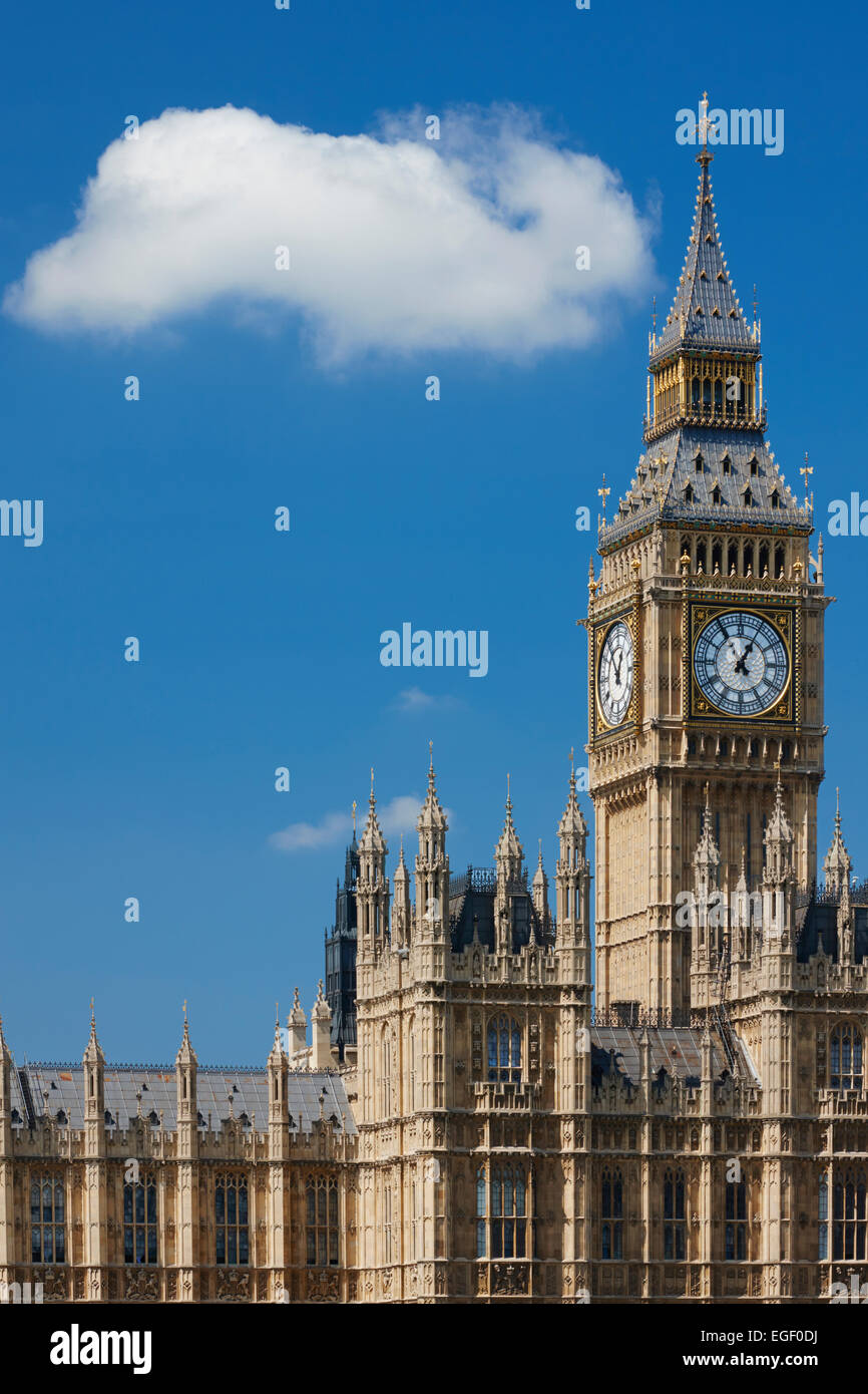 Big Ben and Houses of Parliament, London, England - Stock Image