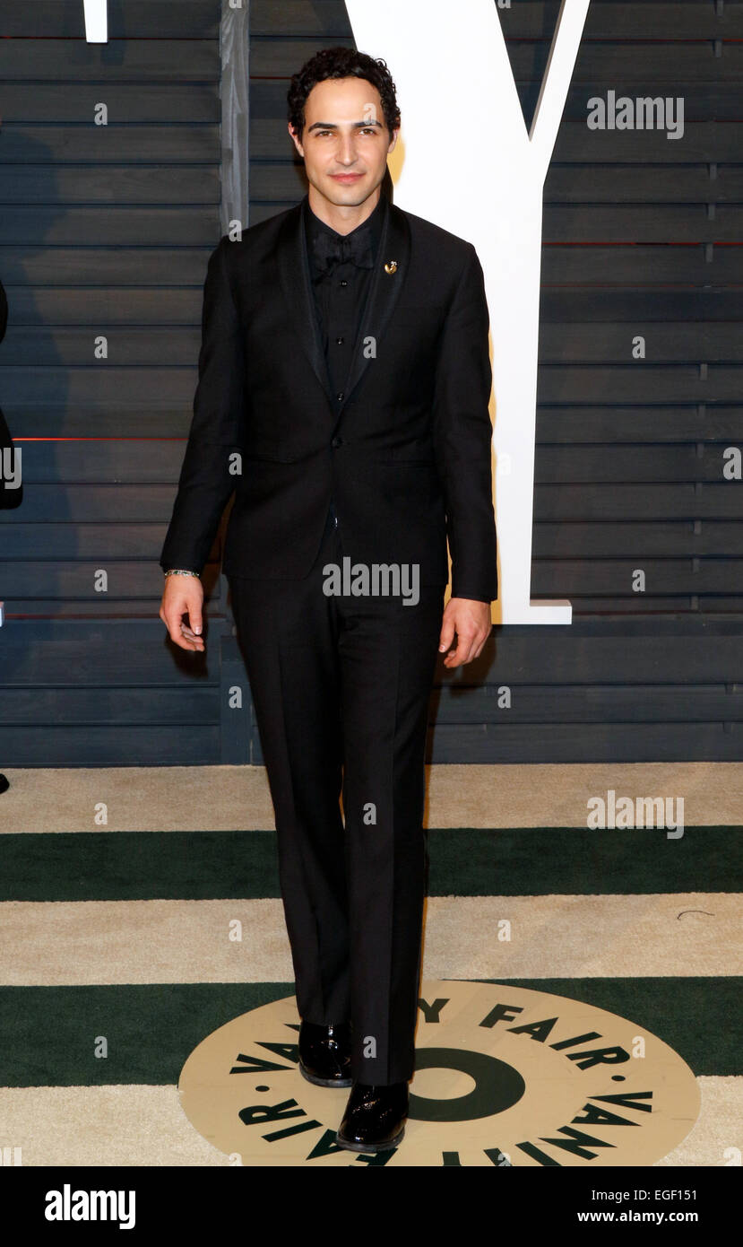 Designer Zac Posen attends the Vanity Fair Oscar Party at Wallis Annenberg Center for the Performing Arts in Beverly Stock Photo